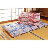 和風 シングル敷布団 赤・青 2色組 綿100% 日本製