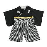 袴ロンパース 黒 70cm