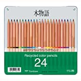 トンボ鉛筆 色鉛筆 木物語 24色 CB-RE24C