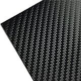 3M ラップフィルム カーボンシート スコッチプリント シール ステッカー カーラッピング ブラック/黒 外装のアクセント バンパーやエアロパーツをカバーする外装に使い切りワイドサイズ (154cm x 50cm) 1080-CF12
