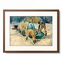 エドヴァルド・ムンク Edvard Munch 「Roadmen in the snow」 額装アート作品
