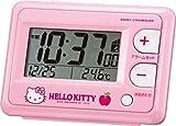 リズム時計 Hello Kitty 電波 目覚まし キャラクター 時計 R095 ピンク 8RZ095RH13