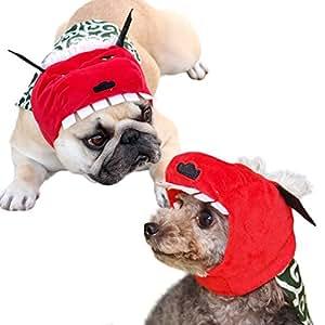 iDog&iCat オリジナル 犬 服 変身かぶりものスヌード お祭り獅子舞 レッド S