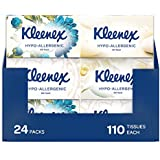 Kleenex Hypo-allergenic Facial Tissues (110 sheets per box, 12 boxes per case). Designs may vary