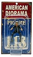 1/ 18American Diorama Biker–Bull Dog男性バイカーバイク走行図モデル