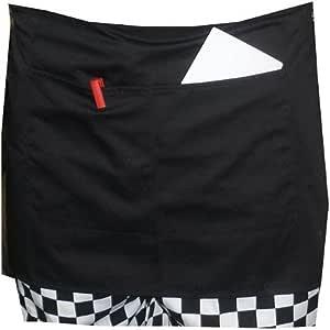 Rosenice耐久ユニセックス短いウエストエプロンポケット付きシェフウェイターWaitress (ブラック)