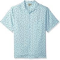 Haggar Mens 555028 Short Sleeve Texture Printed Shirts Short Sleeve Button Down Shirt - Multi