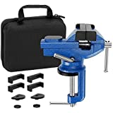 """Vise Universal Rotate 360° Work Clamp-on Vise Table Vise, 3"""""""
