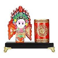 NTSM ペンホルダー中国の特徴ギフト北京オペラマスク装飾工芸品多機能ペンホルダークリエイティブギフト工芸品ホリデーギフト (Specification : 5)