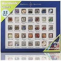 Mixed Crystals Gemstones Mixed Bulk Crystals 35 Stones Samples and Map