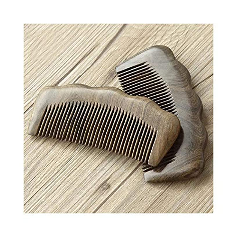 ふけるキャンベラしわFashianナチュラルサンダルウッドコーム - 全歯と手作りの木製くし静電気防止コーム ヘアケア (色 : 81247)