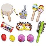 innocheerキッズ楽器、Percussion Toy Miniバンド–Rattleドラムセット