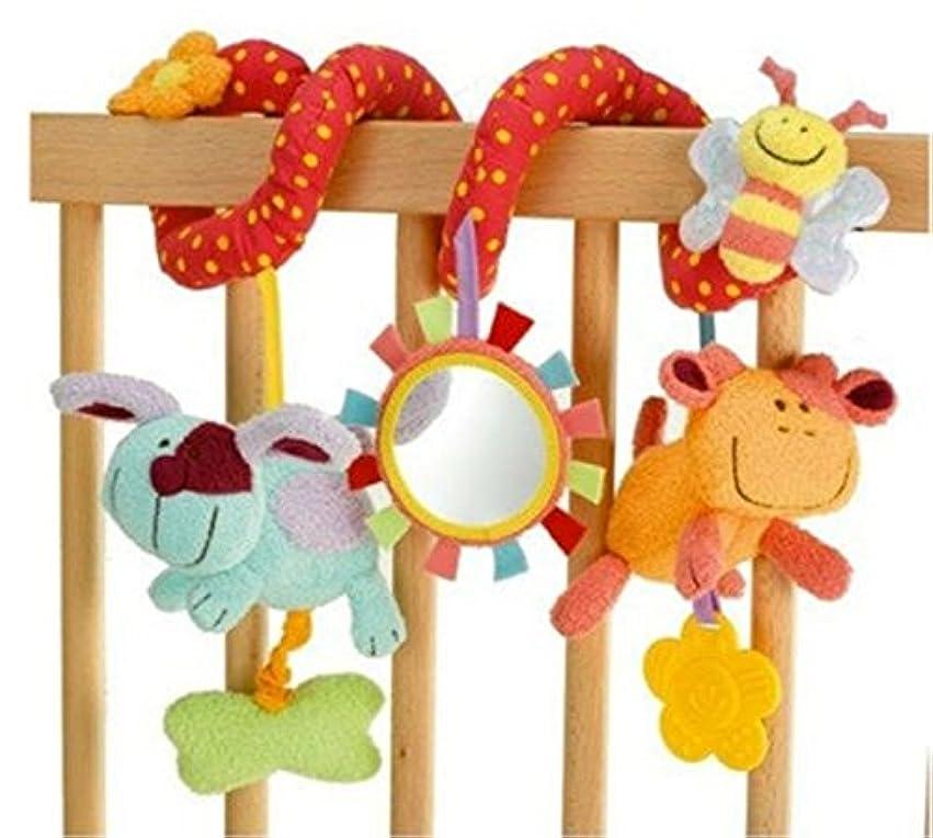 複数メイン草ベビーカーベビーベッド用玩具  ガラガラおもちゃ かわいい 柔らかい ぬいぐるみ 吊り下げおもちゃ
