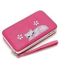 ab8d34d0020d MOTOYOU 財布 二つ折り 長財布 レディーズ puレザー 人気 花柄 猫 猫ちゃん 女の子