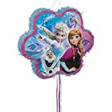 Unique Party 66004 Snowflake Disney Frozen Pinata, Pull String