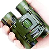 USCAMEL®折り畳みポケット式双眼鏡、コンパクト旅行用ミニ望遠鏡HD Bak 4光学レンズ、ピント合わせしやすい、カラー 迷彩