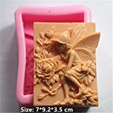 Girl Flowers Elves Silicone Fondant Cookie Cake Decorating Baking Mold Tools