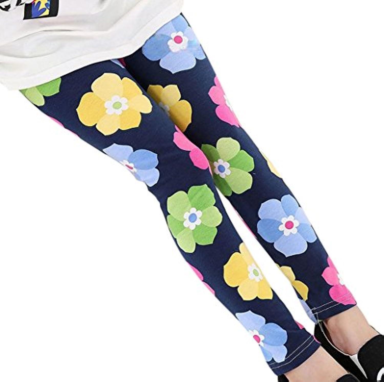 Plus Nao(プラスナオ) レギンス スパッツ ボトムス 10分丈 キッズ 子供 服 子ども こども 女の子 女児 動きやすい カジュアル 花柄 フラワ
