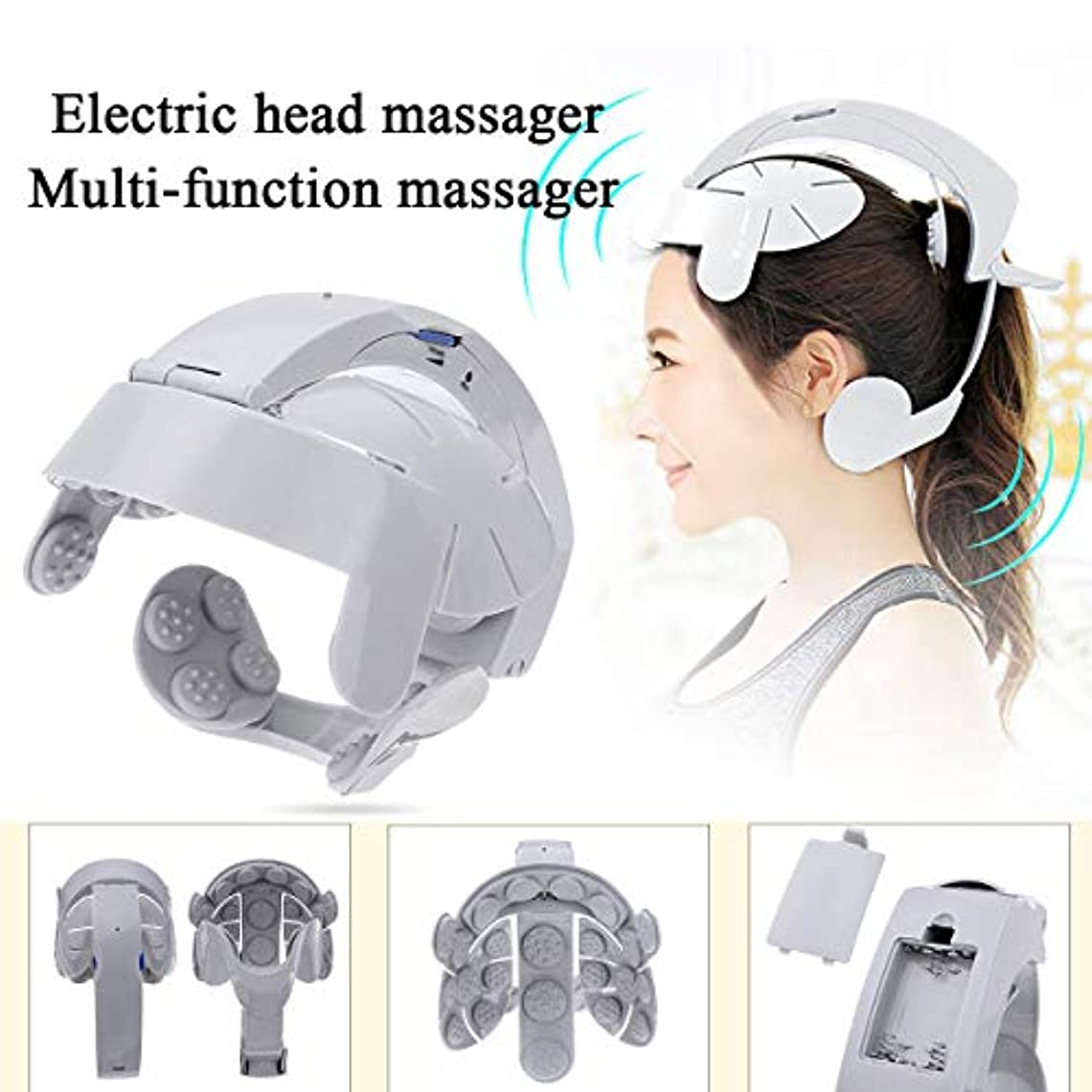 均等に類人猿唯物論電気ヘッドマッサージの振動マッサージ簡単な脳マッサージ器ストレスリリーフとより良い睡眠経穴ストレス解放機