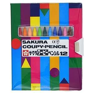 サクラクレパス クーピーペンシル 12色 FY12-R1 ソフトケース入