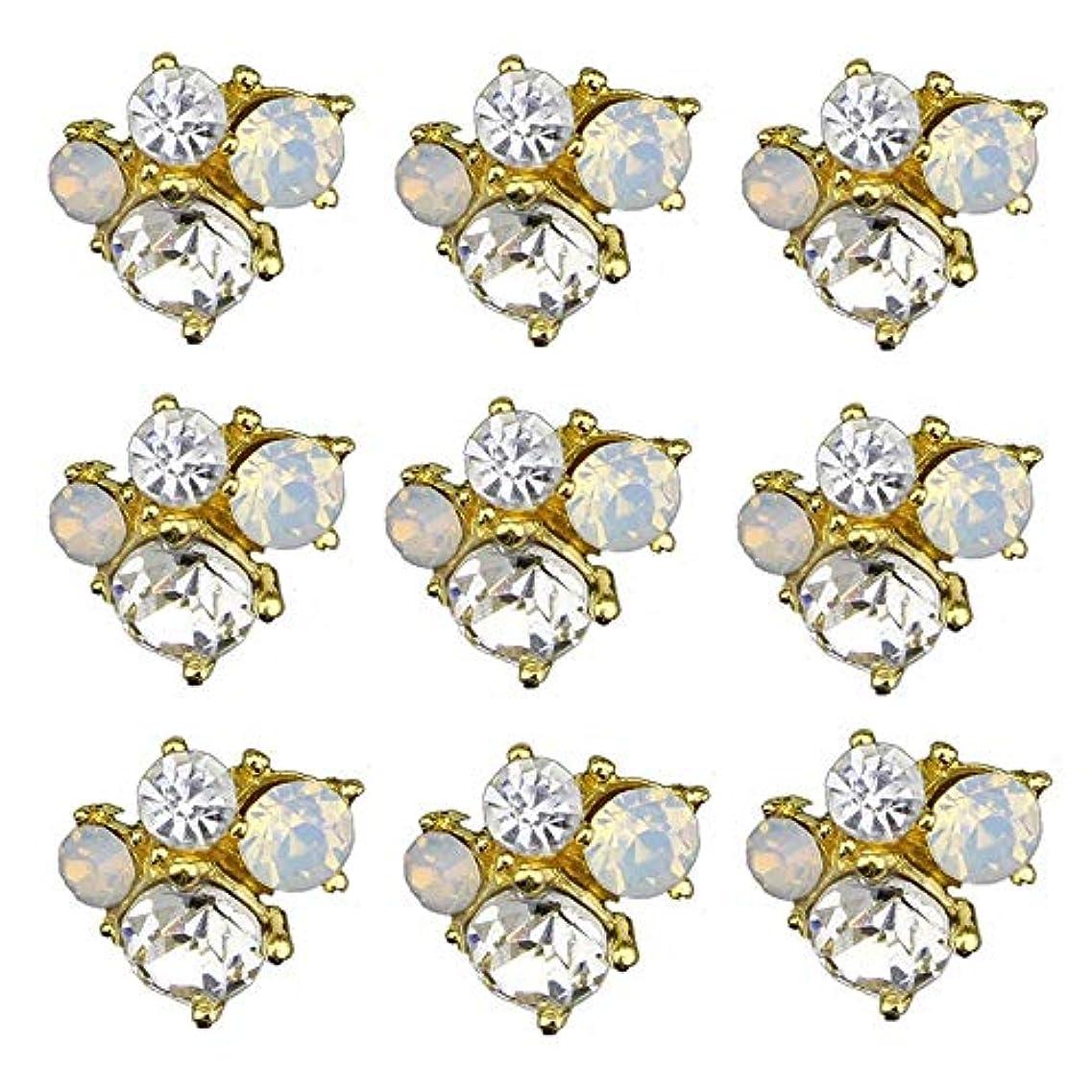 ブリーク割合ホームレスネイルズデザインのための10pcsの3Dネイルアーツグリッターラインストーンの装飾チャームクリスタル飾るスタッドアクセサリー