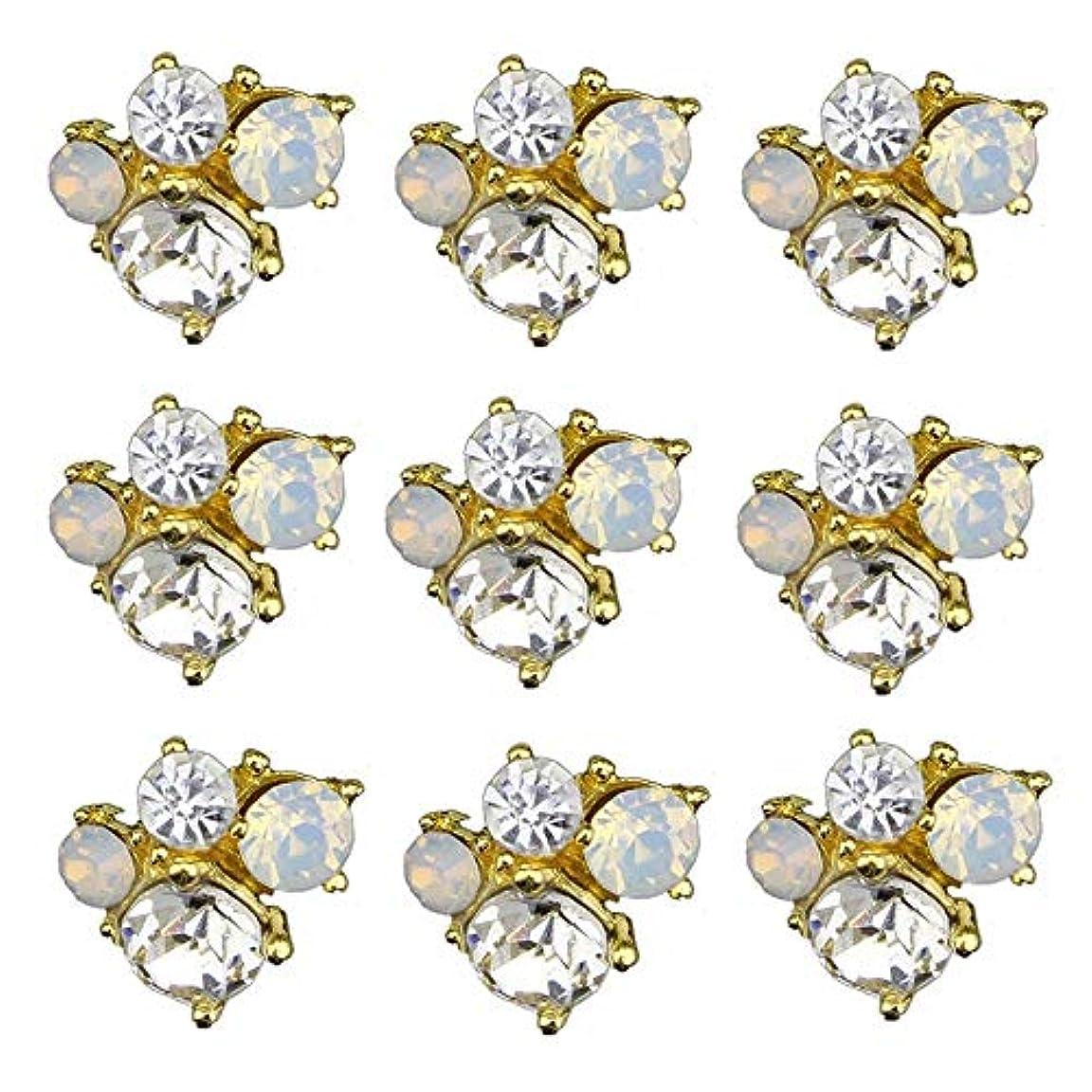 終わらせるええ衝突するネイルズデザインのための10pcsの3Dネイルアーツグリッターラインストーンの装飾チャームクリスタル飾るスタッドアクセサリー