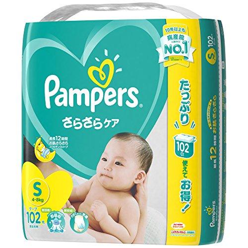 パンパース オムツ テープ さらさらケア S(4~8kg) ...