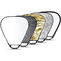 Neewer 81cm撮影用三角レフ板 5枚「金/銀/白/黒/半透明」キャリングバッグとグリップ付き