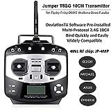 マルチプロトコル・送信機( Jumper t8sg ) 2.4G 10CH、送信機モジュールcc2500+ nrf24l01+ a7105+ cyrf6936RFチップ内蔵、for Flysky FrSky dsm2Walkera DEVO Futaba (モード2)