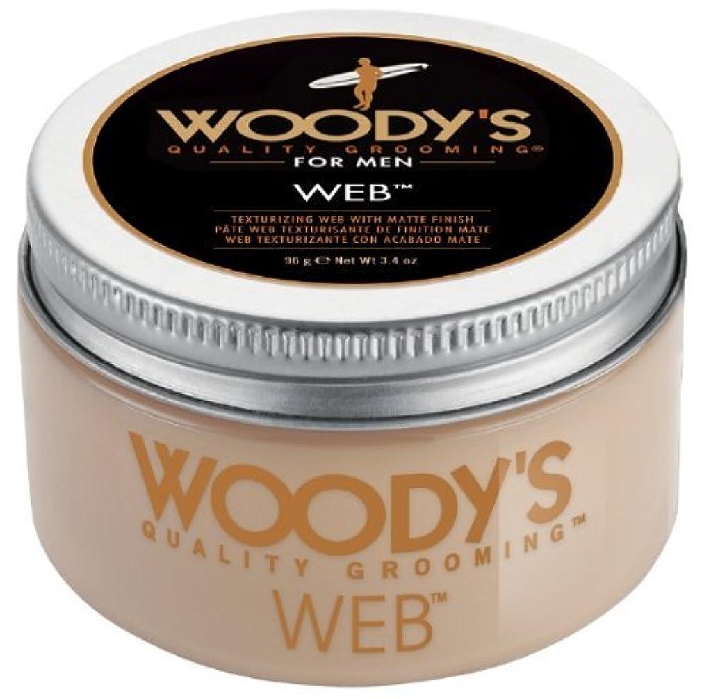 困惑道徳性交Woody's Men Hair Styling Web Pomade Matte Finish Wet Or Dry Hair Cr??me Gel 96g by Woody's [並行輸入品]