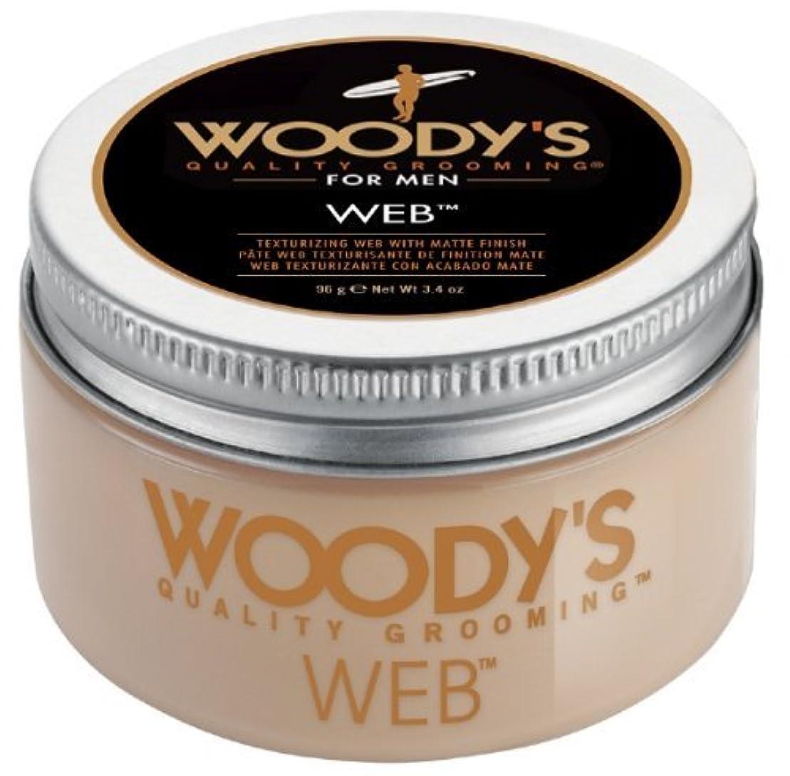 クリープ発火する自治Woody's Men Hair Styling Web Pomade Matte Finish Wet Or Dry Hair Cr??me Gel 96g by Woody's [並行輸入品]