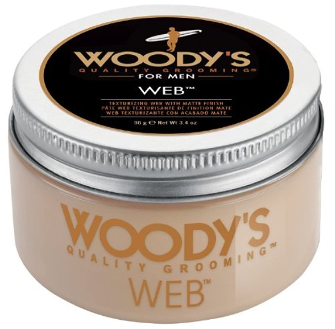 光景笑い含意Woody's Men Hair Styling Web Pomade Matte Finish Wet Or Dry Hair Cr??me Gel 96g by Woody's [並行輸入品]