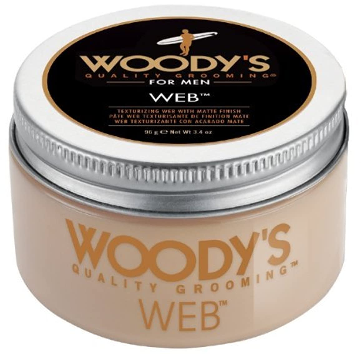 楽しむ入植者確かなWoody's Men Hair Styling Web Pomade Matte Finish Wet Or Dry Hair Cr??me Gel 96g by Woody's [並行輸入品]