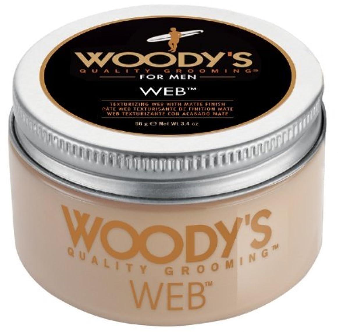 減衰コミットメントどっちでもWoody's Men Hair Styling Web Pomade Matte Finish Wet Or Dry Hair Cr??me Gel 96g by Woody's [並行輸入品]
