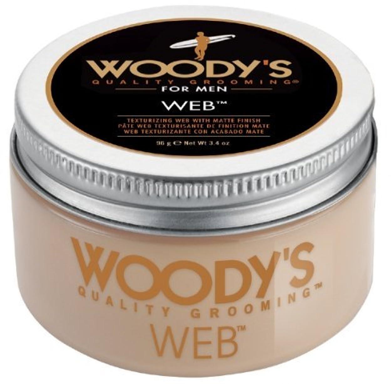 。変位人Woody's Men Hair Styling Web Pomade Matte Finish Wet Or Dry Hair Cr??me Gel 96g by Woody's [並行輸入品]