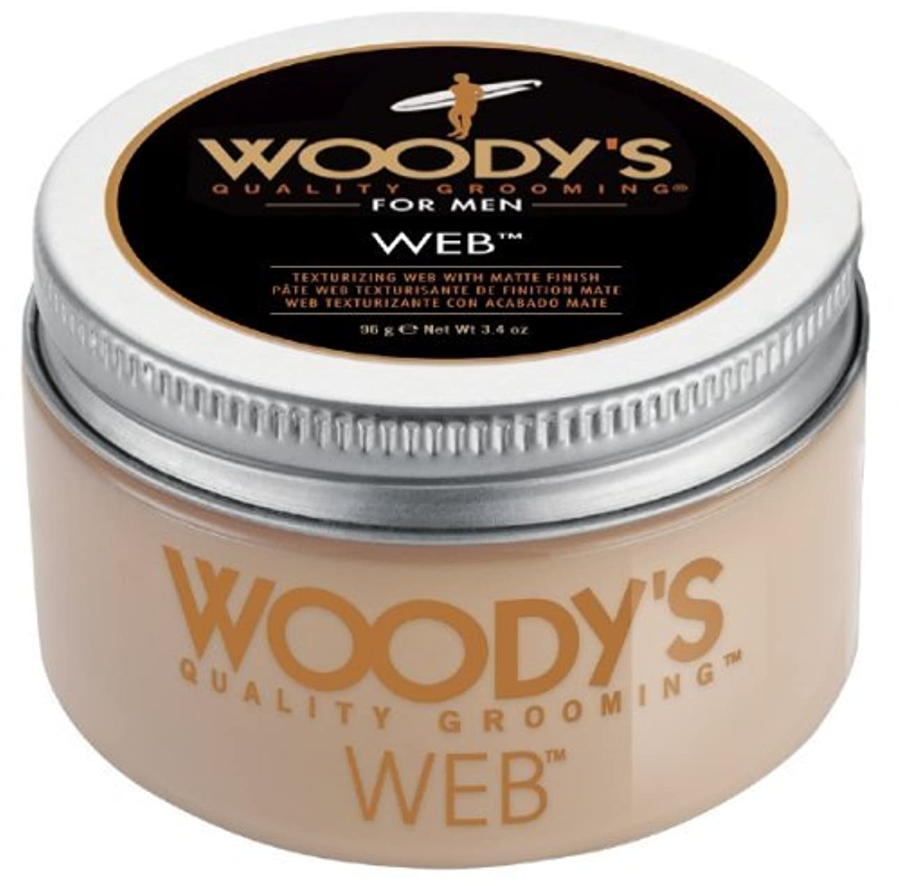 特許注入する参加するWoody's Men Hair Styling Web Pomade Matte Finish Wet Or Dry Hair Cr??me Gel 96g by Woody's [並行輸入品]