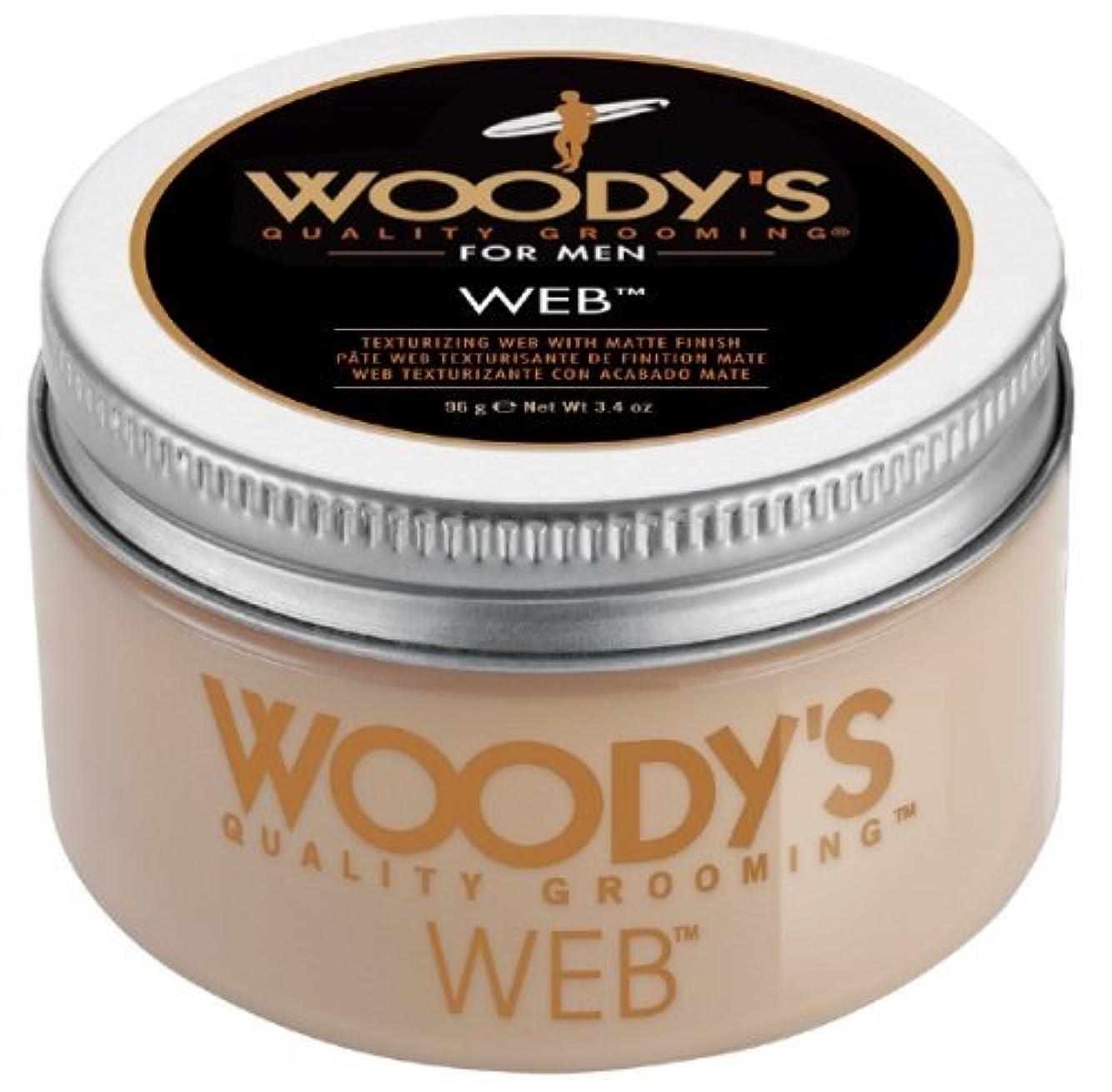 とても多くの前兆化合物Woody's Men Hair Styling Web Pomade Matte Finish Wet Or Dry Hair Cr??me Gel 96g by Woody's [並行輸入品]