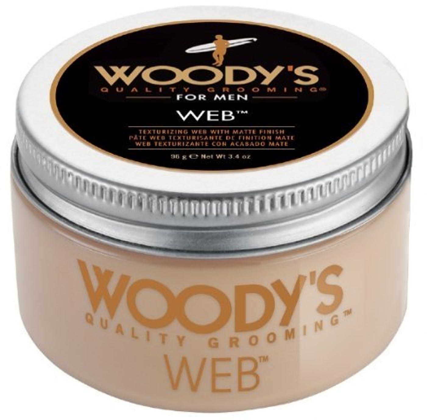 三番オセアニアクルーズWoody's Men Hair Styling Web Pomade Matte Finish Wet Or Dry Hair Cr??me Gel 96g by Woody's [並行輸入品]