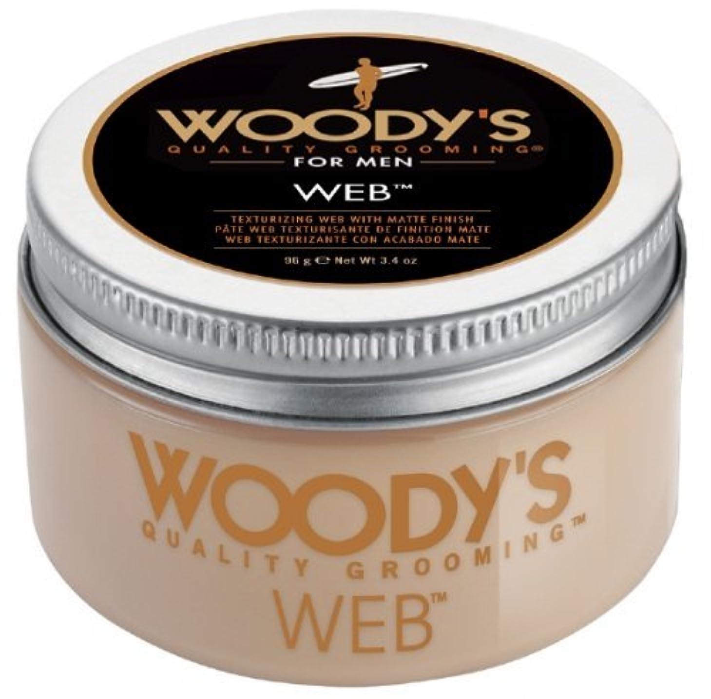 示す地下室ハグWoody's Men Hair Styling Web Pomade Matte Finish Wet Or Dry Hair Cr??me Gel 96g by Woody's [並行輸入品]