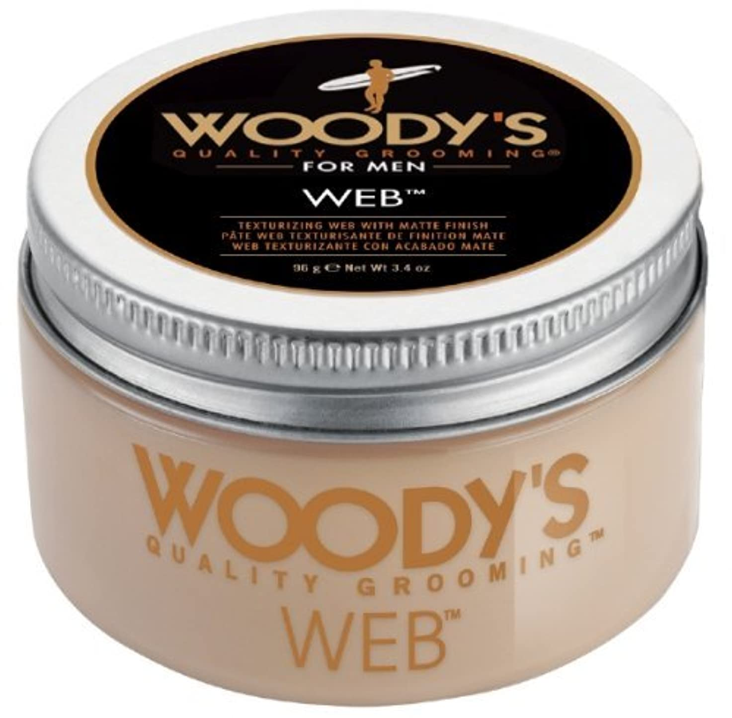 若者画像収穫Woody's Men Hair Styling Web Pomade Matte Finish Wet Or Dry Hair Cr??me Gel 96g by Woody's [並行輸入品]