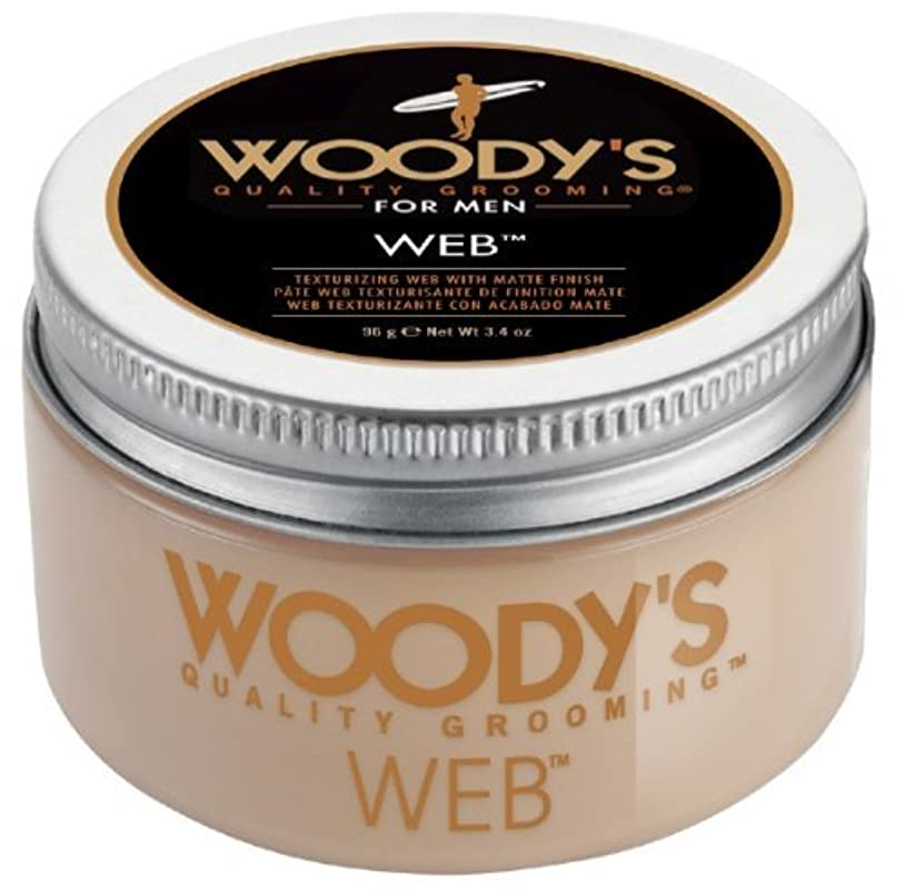 触覚借りている今日Woody's Men Hair Styling Web Pomade Matte Finish Wet Or Dry Hair Cr??me Gel 96g by Woody's [並行輸入品]