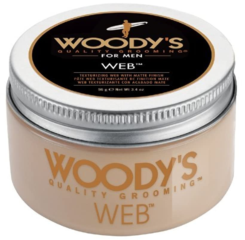 赤入場料弱点Woody's Men Hair Styling Web Pomade Matte Finish Wet Or Dry Hair Cr??me Gel 96g by Woody's [並行輸入品]