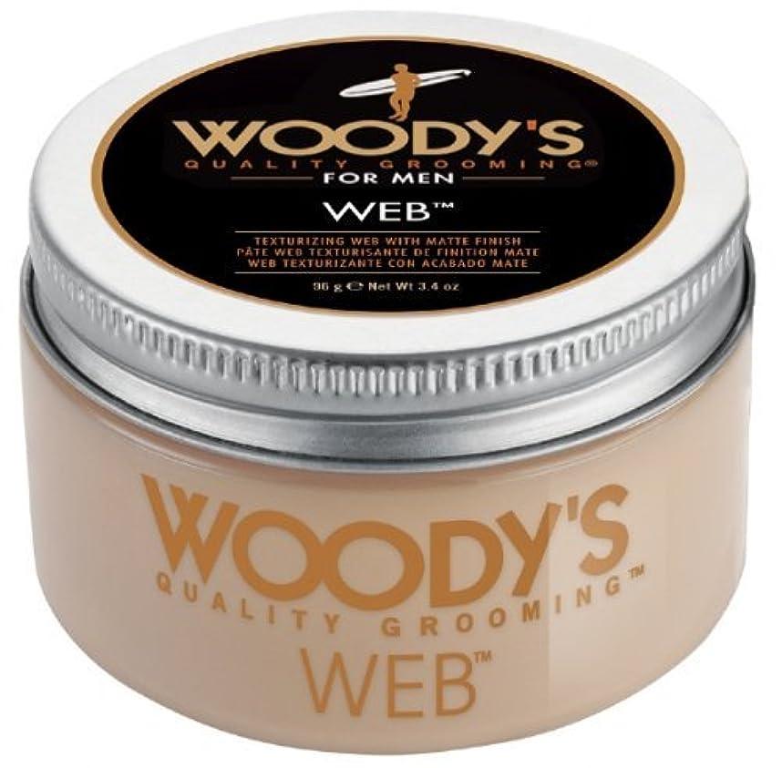 強大な支配するフットボールWoody's Men Hair Styling Web Pomade Matte Finish Wet Or Dry Hair Cr??me Gel 96g by Woody's [並行輸入品]
