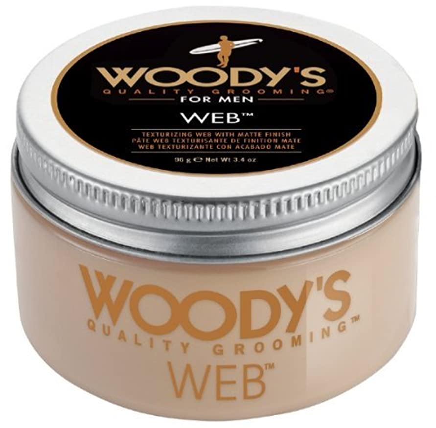 ラウズ遊具テザーWoody's Men Hair Styling Web Pomade Matte Finish Wet Or Dry Hair Cr??me Gel 96g by Woody's [並行輸入品]