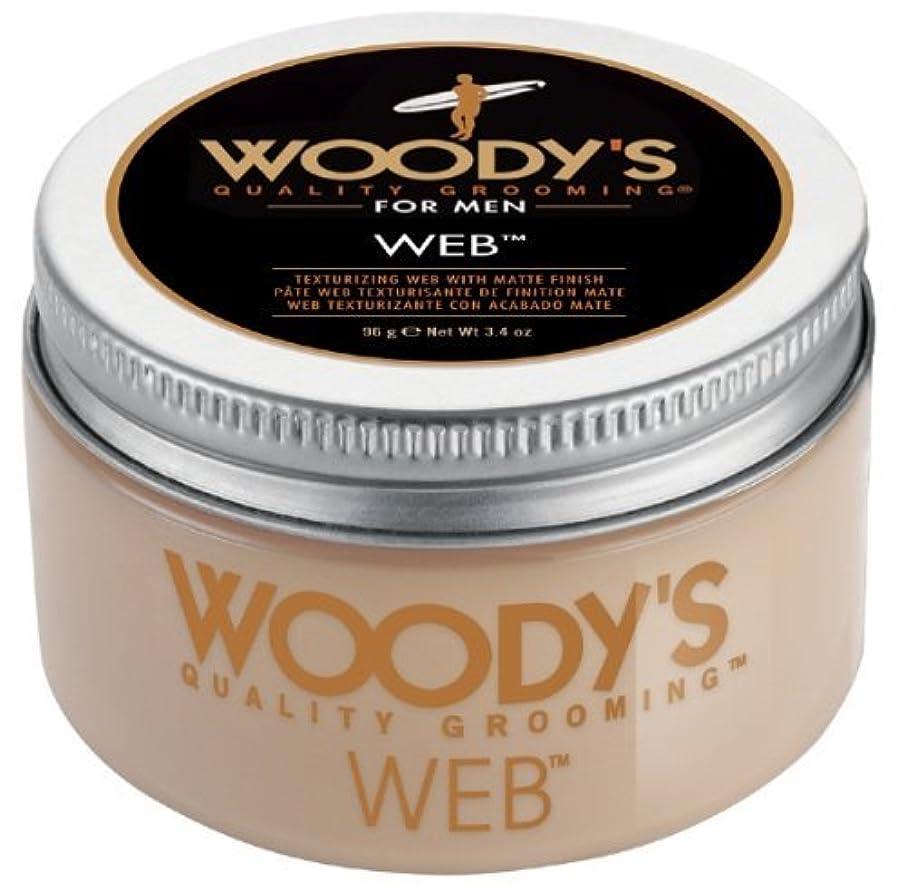 厚くするバドミントン海岸Woody's Men Hair Styling Web Pomade Matte Finish Wet Or Dry Hair Cr??me Gel 96g by Woody's [並行輸入品]