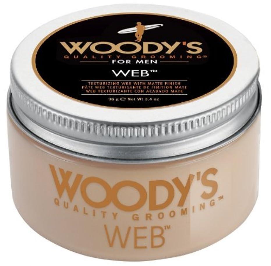 大学院ランチョンメディアWoody's Men Hair Styling Web Pomade Matte Finish Wet Or Dry Hair Cr??me Gel 96g by Woody's [並行輸入品]