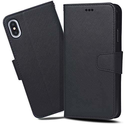 iPhoneXs Max ケース 手帳型 Arae ワイヤレス充電対応 スマホケース iPhone Xs Max ケース 横置き機能 カー...