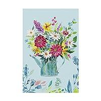 商標ファインアートガーデンフラッグ4バイIrina Trzaskos Studio 4、16x24、多色