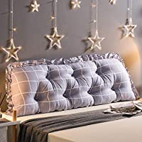 YANYUNBIN ベッドサイドバッククッション、二人ロングピロー、ベッドクッション、トライアングルウェッジピロー、PPコットンパッドは取り外し可能で洗濯可能、複数色のサイズで利用可能 (色 : B, サイズ さいず : 45 * 150)