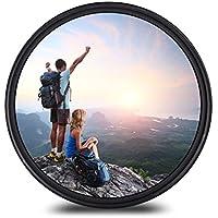 58mm レンズフィルター MC UV レンズ保護フィルター 多層加工 薄枠 撥水防汚紫外線吸収用 各メーカー対応 (58mm)